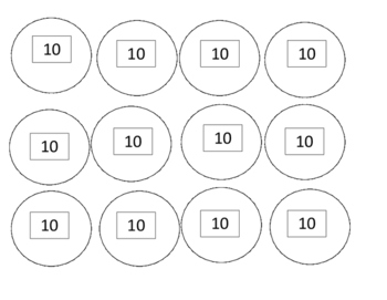 10's skip counting mat