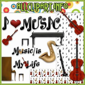 $1.00 BARGAIN BIN - Music Is My Life Clip Art