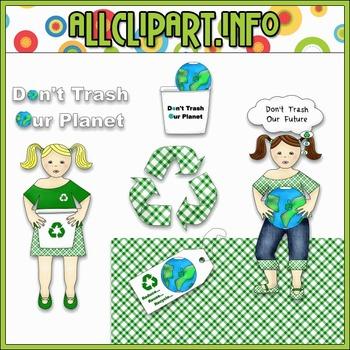$1.00 BARGAIN BIN - Recycle Girls Clip Art