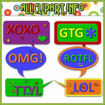 $1.00 BARGAIN BIN - Text Message Bubbles Clip Art