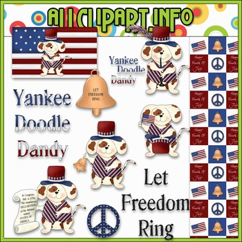 $1.00 BARGAIN BIN - The Patriotic Puppy Clip Art