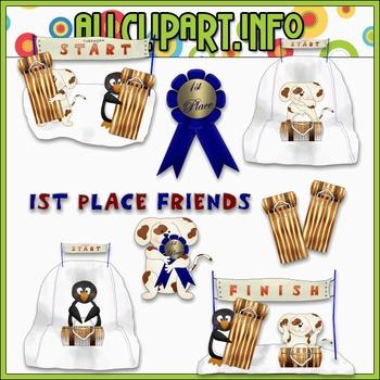 $1.00 BARGAIN BIN - Toboggan Friends 1 Clip Art