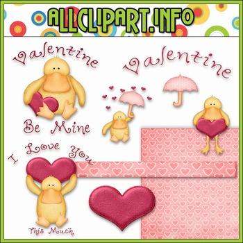 $1.00 BARGAIN BIN - Valentine Duck Clip Art