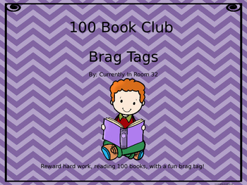 100 Book Club Brag Tag