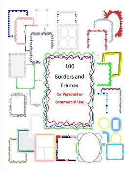 100 Borders and Frames for Personal or Commercial Use