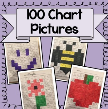 100 Chart Mystery Picture Pack!  (TEN Mystery Pictures Included!)