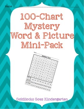 100-Chart Mystery Word/Picture Mini-Pack