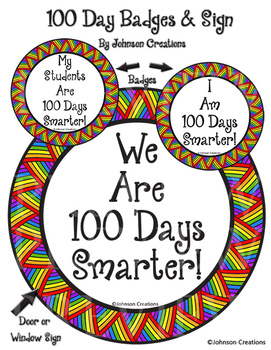 100 Day Badges And Sign