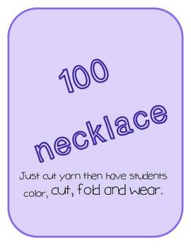 100 Day Necklace Freebie