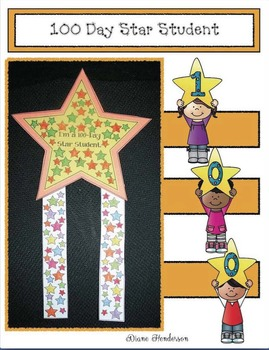 100 Day Star Student Badge With 100 Stars
