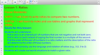 Engage NY 6th Grade Math Module 1 Topic A Lesson 1 for Sma