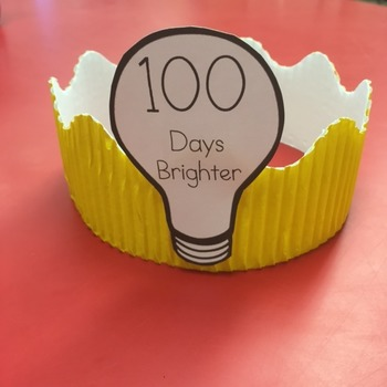 100 Days Brighter Crown By Ll School Daze Teachers Pay
