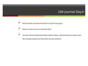 100 Days of Journal Prompts