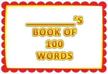 100 Days of Learning - 100 word vocabulary book