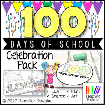 100 Days of School Celebration Pack - ELA, Math, Science