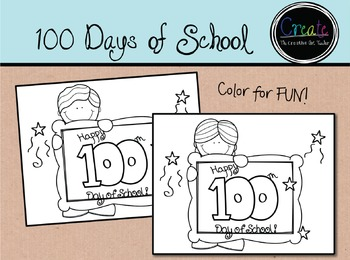100 Days of School - Color for Fun