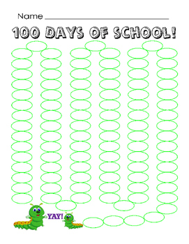 100 Days of School Countdown Write Numbers or Color Kinder
