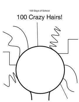 100 Days of School - Crazy Hair Math