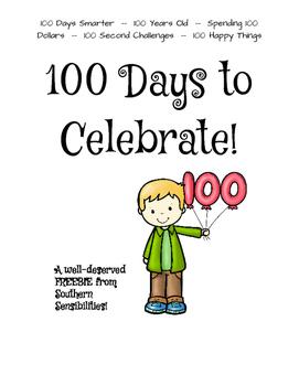 100 Days to Celebrate **Freebie!**