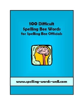 100 Difficult Spelling Bee Words With Sentences, Definitio