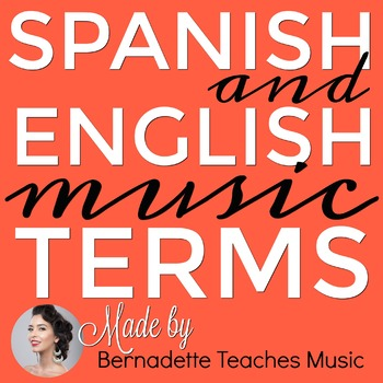 100 Pages! English & Spanish Music Terms Vocabulary Posters