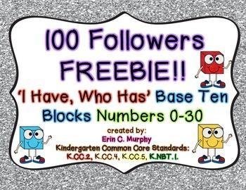 100 FOLLOWERS FREEBIE!! I Have/Who Has Base 10 Game