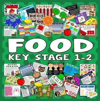 100 FOOD ACTIVITIES TASKS GAMES -key stage 1-2 RESOURCES H