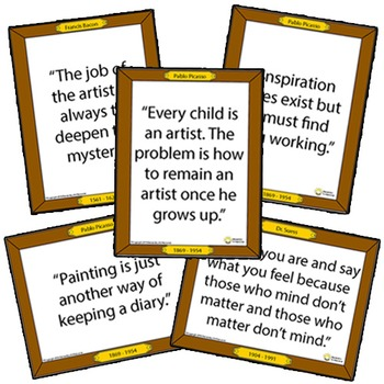 100 Famous Art Quotes Classroom Posters - Inspirational Sa