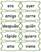 100 First Grade SPANISH High Frequency Word Cards / Palabr