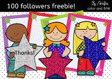 100 Followers FREEBIE!! *clipart*