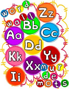Word Wall Alphabet * FREE * Bilingual