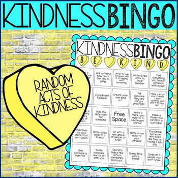 Random Acts of Kindness Bingo #kindnessnation