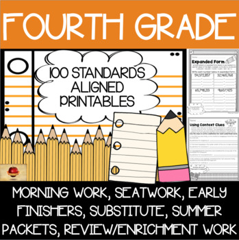 100 Fourth Grade No Prep Language, Reading, Writing, & Mat