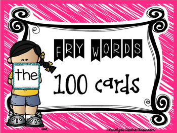100 Fry Sight Word Sparkly Cards (Centers, Flash Cards, etc)