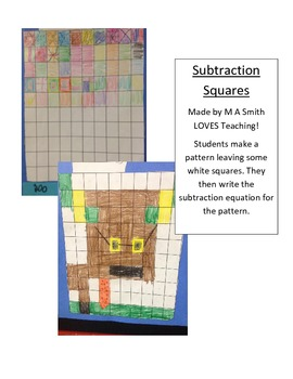 100 Grid Subtraction Art