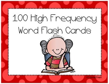 High Frequency Word Flash Cards