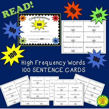 100 Quick Fluency Sentences to Read and Write