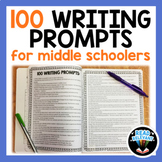 Writing Prompts for Middle School--100 High Interest Prompts!