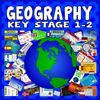 100 KEY STAGE 1-2 GEOGRAPHY ACTIVITIES GAMES STARTERS TEAC