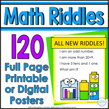 100 Math Riddle Posters: A Riddle for Every Number from On