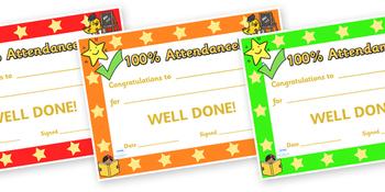 100 Percent Attendance Award