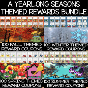 Reward Coupons Seasons Theme Set of 100