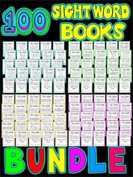 Sight Word BOOKS BUNDLE- 100 SIGHT WORD FOLD-ABLE BOOKS
