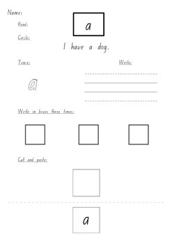 100 Sight Word Worksheets NSW Foundation Font