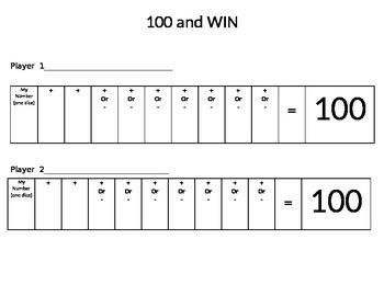 100 & Win!