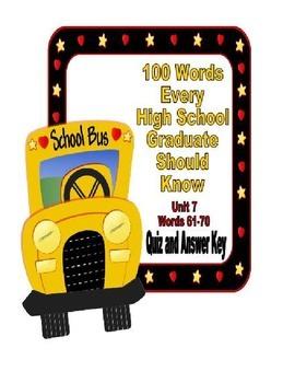 100 Words Every High School Graduate Should Know #7 (Vocab
