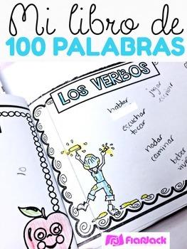 100th Day 100 Words Spanish Mini Book