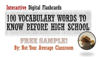 100 Words Every Middle Schooler Should Know FREE Interacti