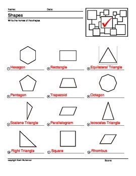 100 Worksheets Math Shapes Geometry