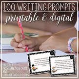 100 Writing Prompt Task Cards